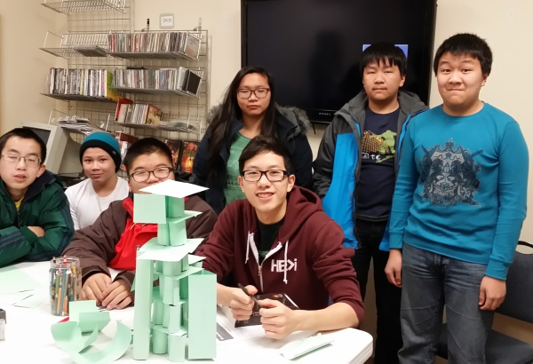 "Team 1 tower ""Tower of Awesome"""