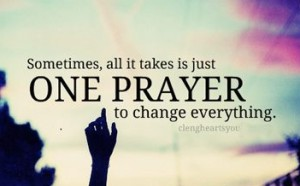 Prayer and change